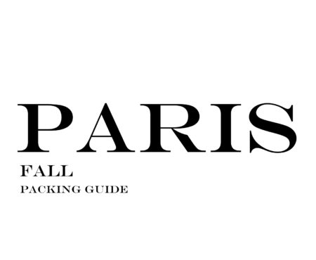 What to Wear to Paris in the Fall