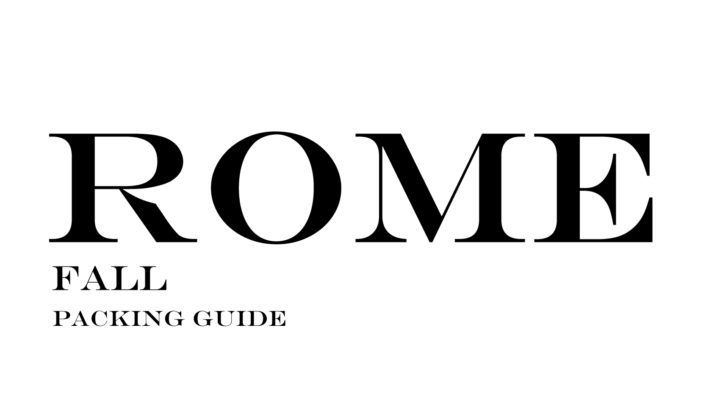 What to Wear to Rome in the Fall