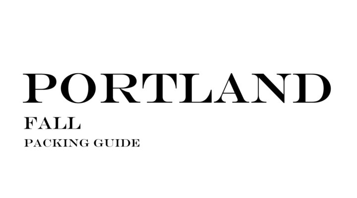 What to Wear to Portland in the Fall