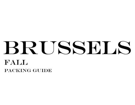 What to Wear to Brussels in the Fall
