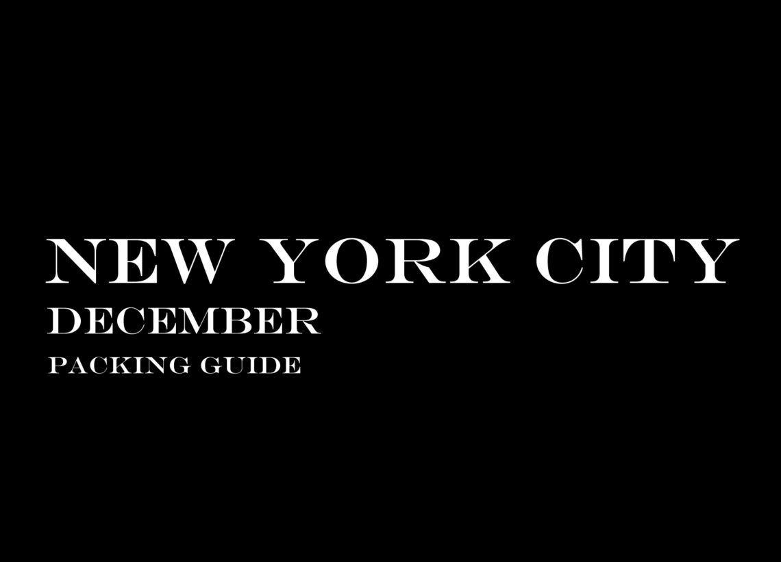 New York Travel Wardrobe